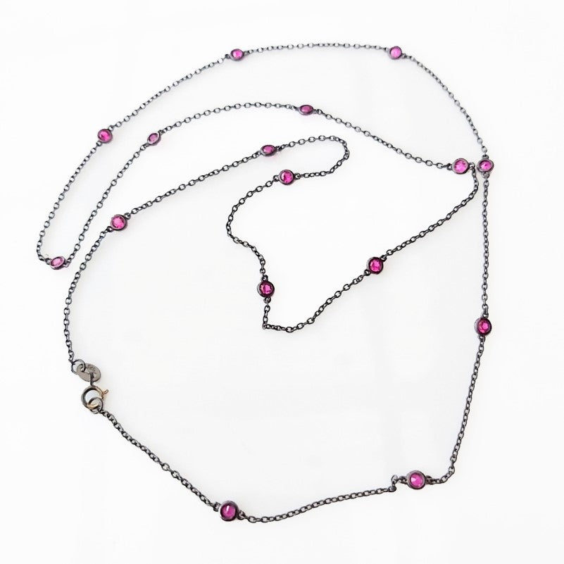 Theodore Silver Assorted Cubic Zirconia Necklace - Theodore Designs