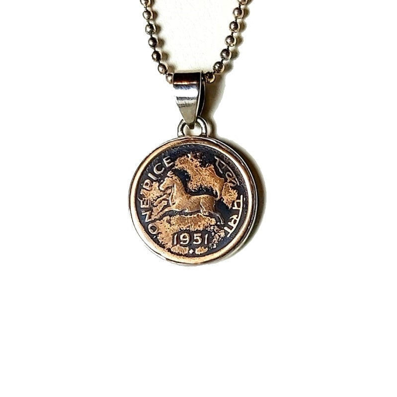 Theodore Sterling Silver Indian Coin Pendant - Theodore Designs