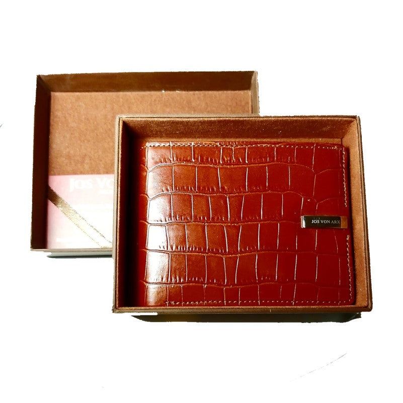 JOS VON ARX Men's 8 Slot Card Holder Bi-Fold Wallet - Theodore Designs