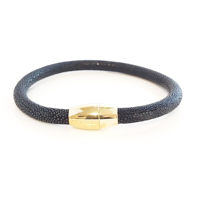Theodore Stainless Steel Genuine Stingray Leather  Bracelet - Theodore Designs