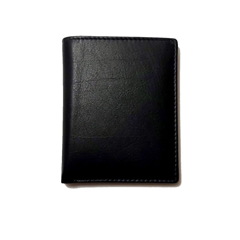 David Aster Black Leather Billfold RFID Card Case With ID Insert - Theodore Designs
