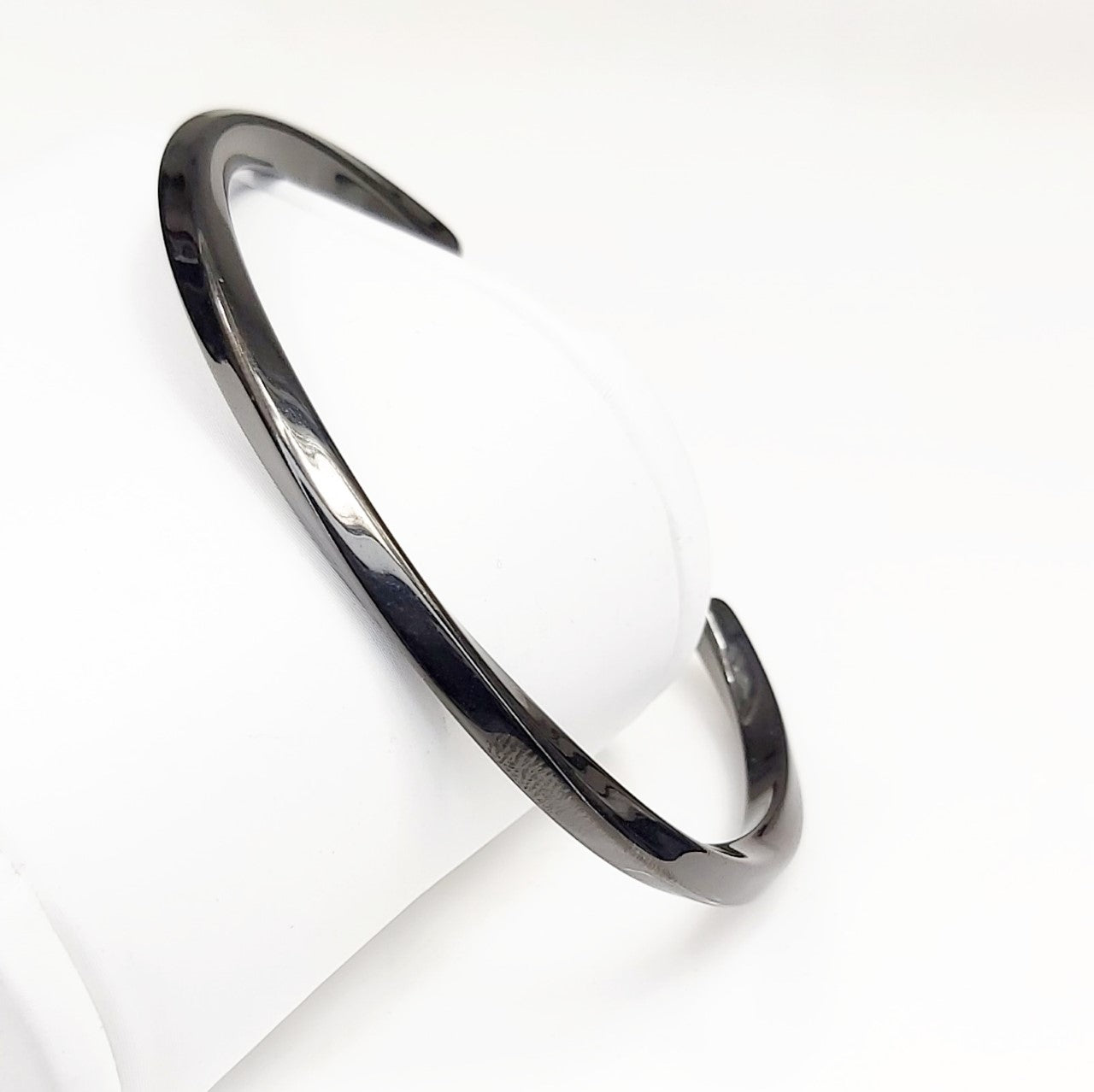 Stainless Steel Twisted Cuff Bangle - Theodore Designs