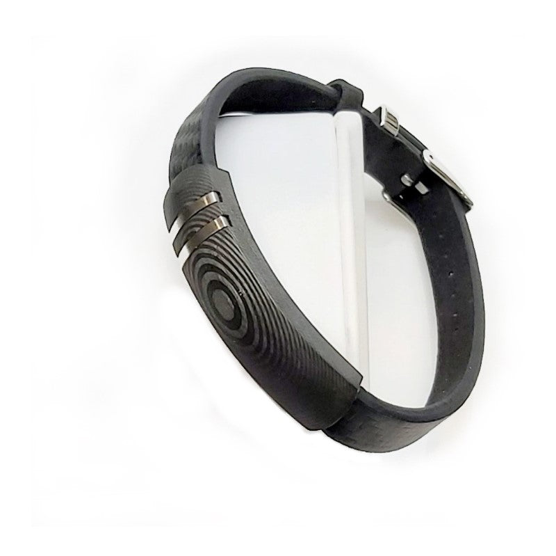 Black Carbon Fiber and  Stainless Steel Bracelet - Theodore Designs