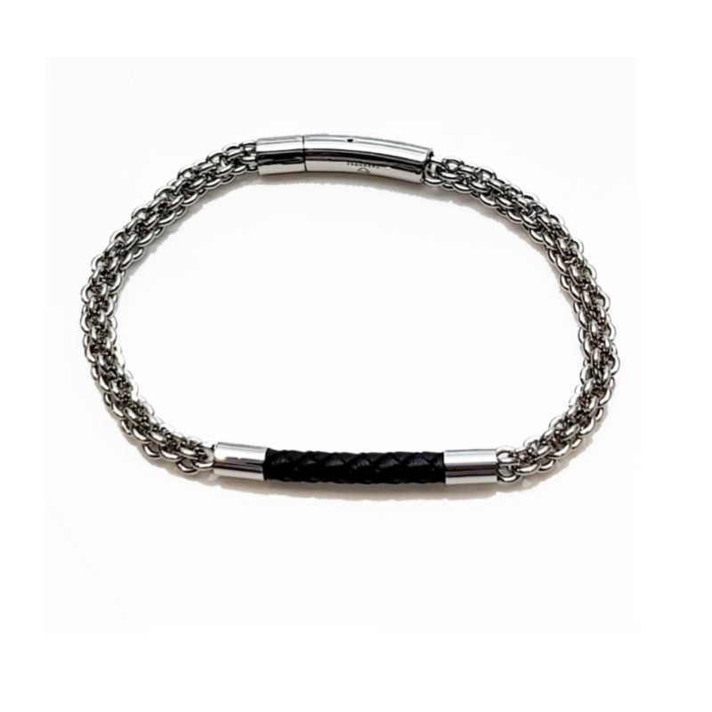 Theodore Stainless Steel Handmade Braided Wrap Leather Bracelet - Theodore Designs