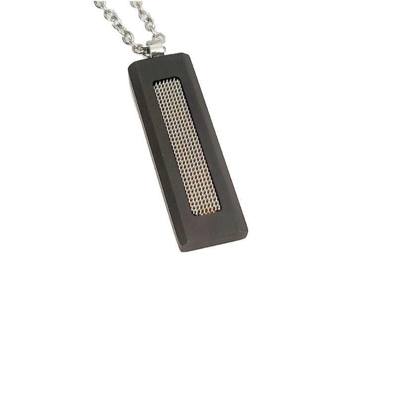 Theodore Stainless Steel  and Carbon Fiber Pendant - Theodore Designs