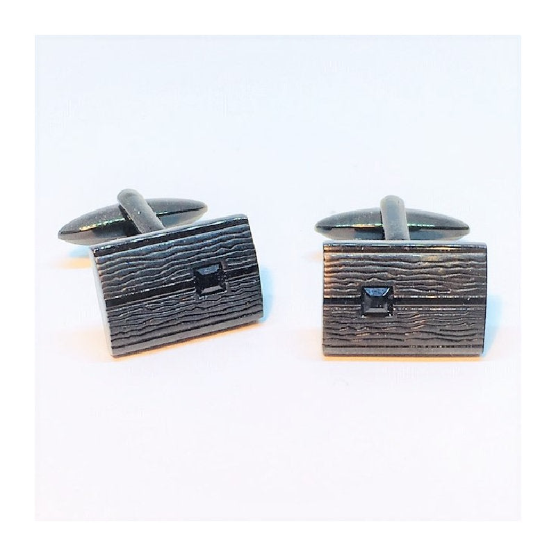 Cudworth Black IP Stainless Steel Cufflinks - Theodore Designs