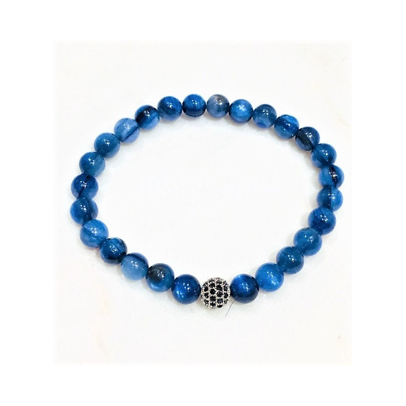Theodore Dark Blue Kyanite Crystal Beaded Bracelet - Theodore Designs