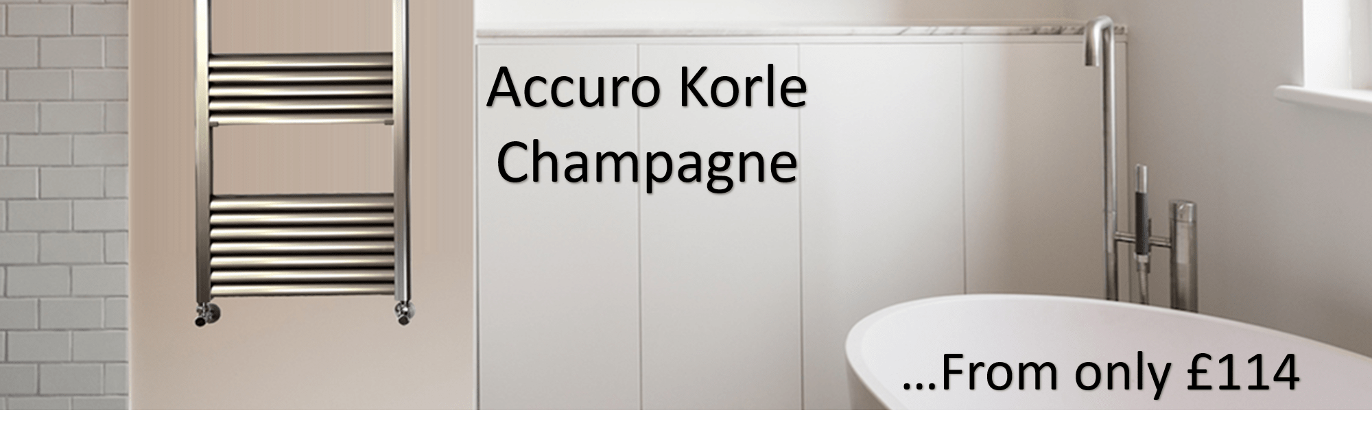 Accuro Korle Champagne Towel Warmer Radiator