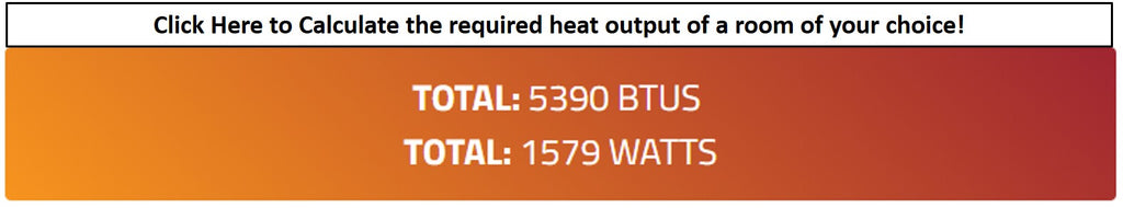 BTU Heat Output Calculator UK