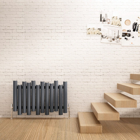 carisa horizontal anthracite designer living room radiator