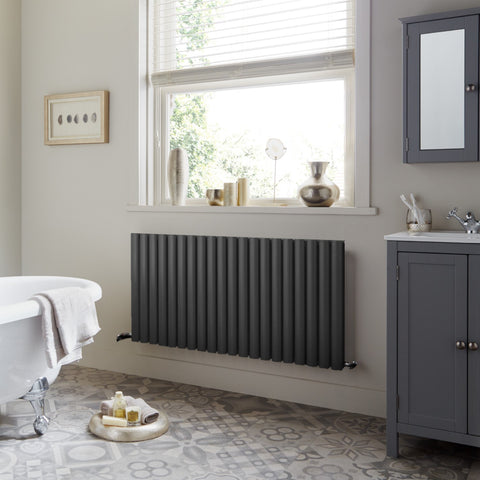dorney designer horizontal anthracite living room radiator