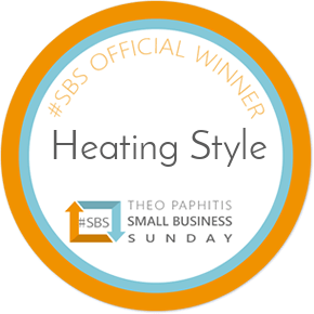 Heating Style SBS Small Business Sunday award
