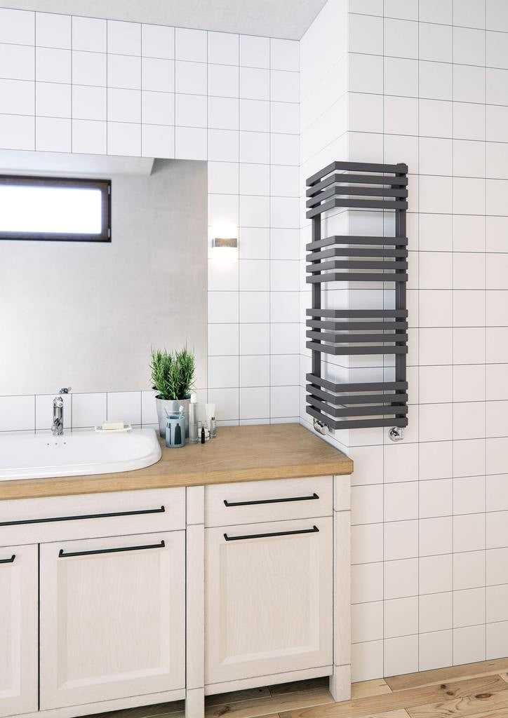 Space saving radiator terma outcorner designer towel rail