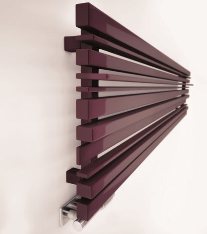 terma sherwood horizontal designer radiator purple