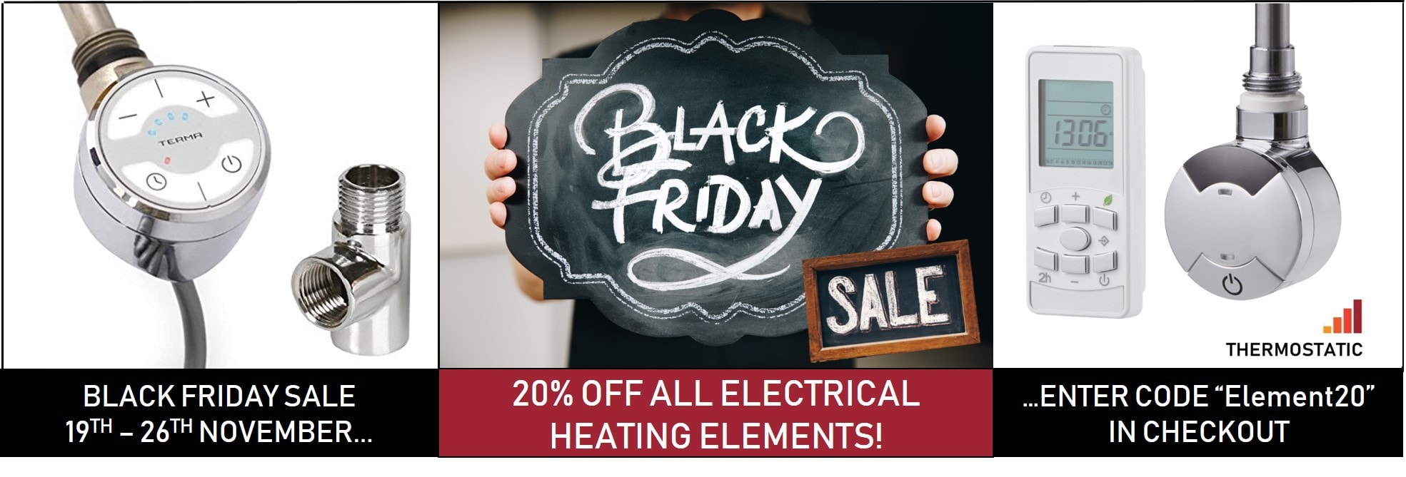 Black Friday Sale 20% off radiator heating elements electric electrical elements Terma