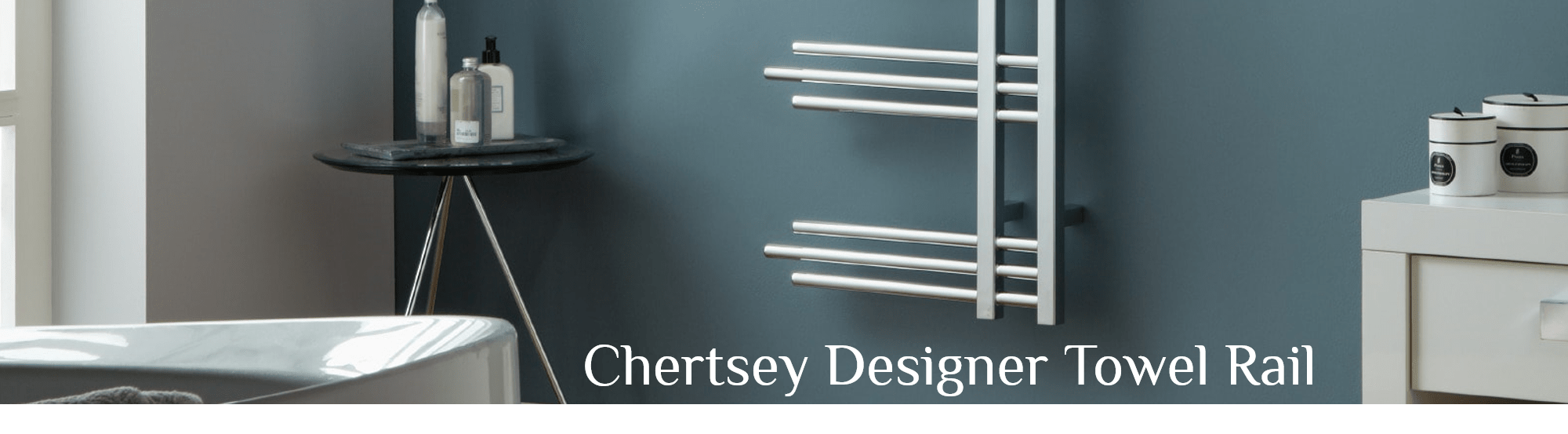 Chertsey Chrome Designer Towel Rail Designer Bathroom Radiator