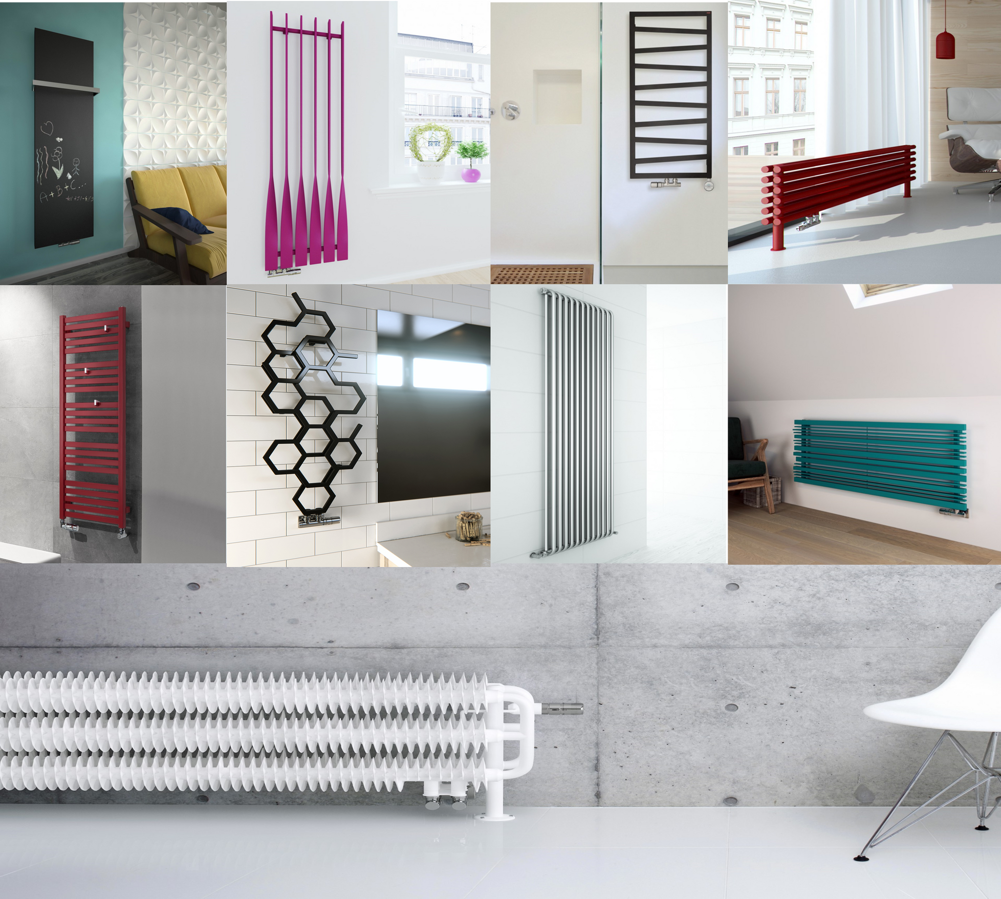 Bespoke radiators design your own made to fit radiator