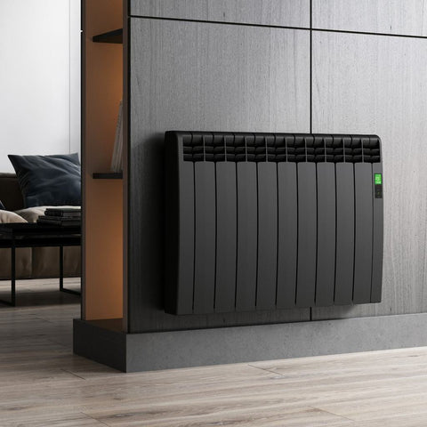 Rointe D Series horizontal designer radiator black stylish radiator