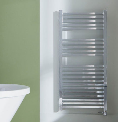 towelrads square electric towel rail dual fuel designer radiator