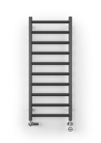 Terma crystal designer towel rail dual fuel radiator electrical heating element and t piece