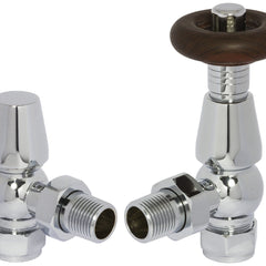 Heating Style Period Style Chelsea Thermostatic Radiator Valves - TRV and Lockshield