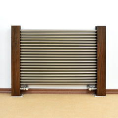 Accuro Korle Excel 600mm Horizontal free standing Designer Radiator Towel Rail Warmer Wood and Aluminium Stylish Contemporary Modern Design FSC certified
