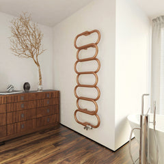 Terma Ouse Designer Copper Radiator Bathroom Towel Warmer Ladder Rail Stylish Modern Contemporary