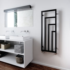 Heating Style Terma Harley Designer Radiator Vertical Towel Rail Warmer Heban Black Unique Modern Contemporary Heating