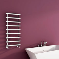 Carisa Aldo Designer Chrome Towel Rail | Designer Ladder Radiator