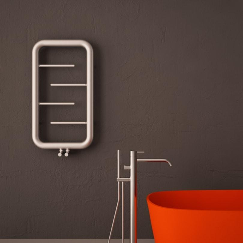 Carisa Aren Stainless Steel Towel Rail | Designer Bathroom Radiator