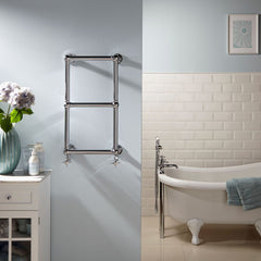 HeatQuick Spokane Chrome Traditional Designer Bathroom Towel Rail