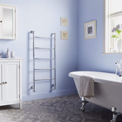 HeatQuick Ontario Chrome Heated Towel Rail | Ladder Style Bathroom Radiator