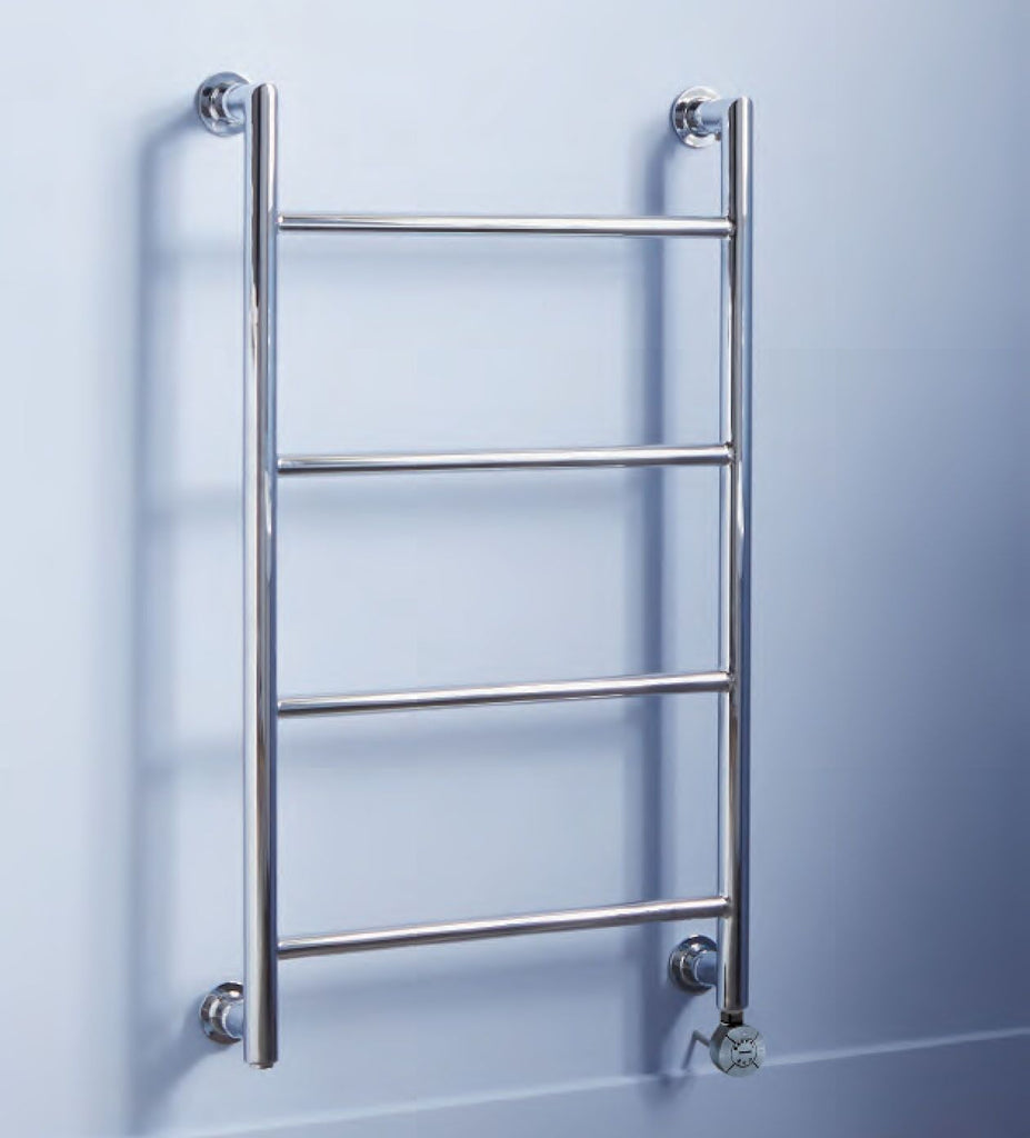 HeatQuick Ontario Electric Thermostatic Chrome Designer Towel Rail