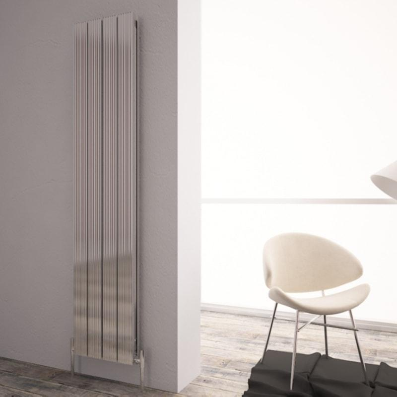 Carisa Monza Double Aluminium Vertical Radiator | Space Saving Radiator