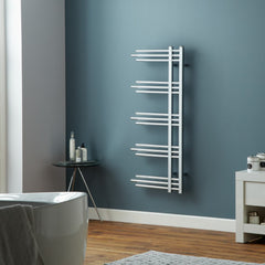 Towelrads Chertsey Chrome Designer Towel Rail | Designer Bathroom Radiator