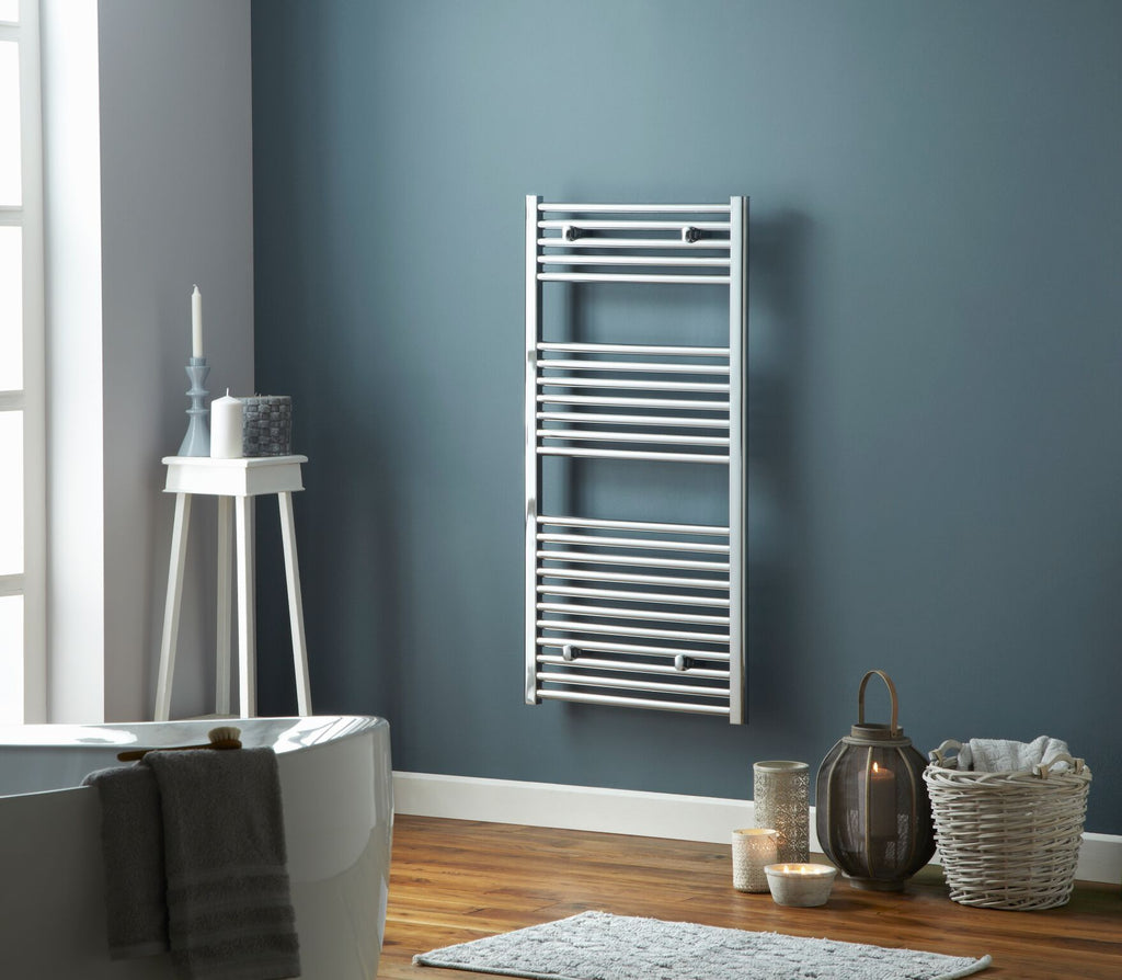 Pisa Towel Rail Chrome | Vertical Ladder Style Bathroom Radiator