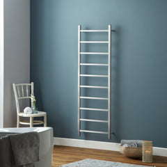 HeatQuick Fir Brushed Stainless Steel Designer Radiator