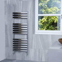 Dorney Chrome Designer Towel Rail | Designer Bathroom Radiator