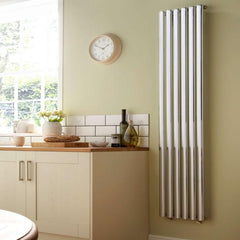 HeatQuick Willow Chrome Vertical Designer Radiator | Space Saving Radiator