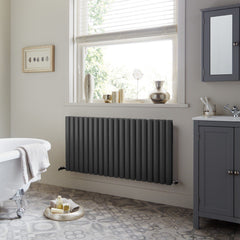 HeatQuick Willow Double Horizontal Designer Radiator | High BTU Radiator