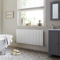 HeatQuick Willow Single Horizontal Designer Radiator | Living Room Radiator