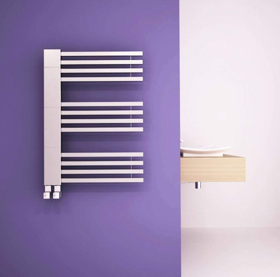 Carisa Gradient Chrome Towel Rail | Designer Bathroom Radiator