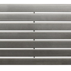 DQ Delta Brushed Stainless Steel Horizontal Radiator