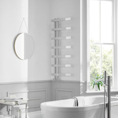 Horton Chrome Heated Towel Rail | Designer Bathroom Radiator
