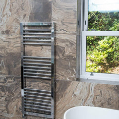 Towelrads Lambourn Chrome Designer Towel Rail | Ladder Style Bathroom Radiator