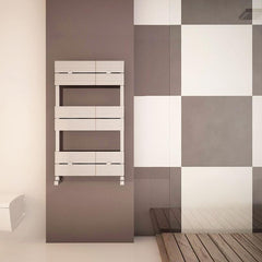 Carisa Monza Bath Aluminium Towel Rail | Designer Bathroom Radiator