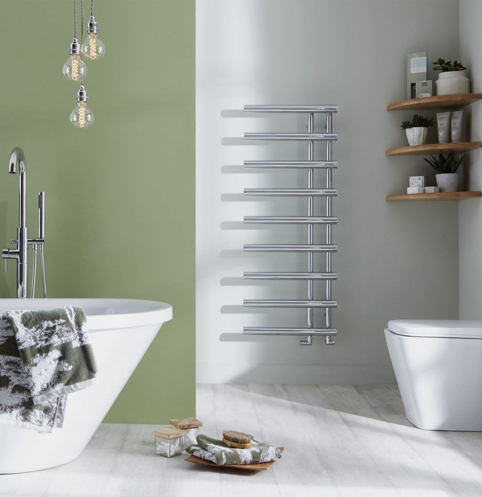 HeatQuick Quail Chrome Designer Towel Rail | Designer Bathroom Radiator