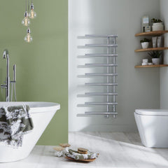 Mayfair Chrome Designer Towel Rail | Designer Bathroom Radiator