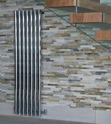 Mayfair Chrome Vertical Designer Radiator | Space Saving Radiator