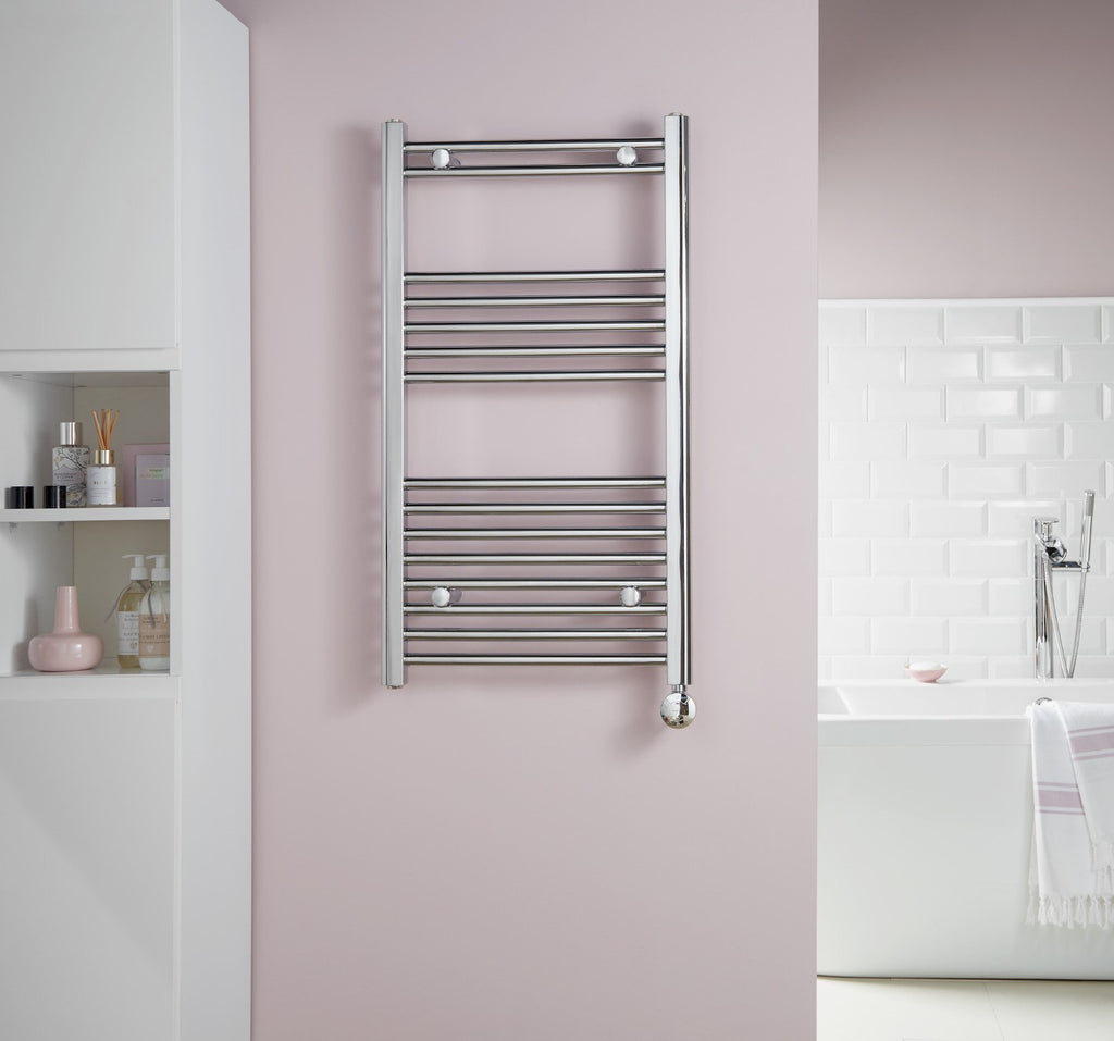 McCarthy Chrome Electric Designer Towel Rail